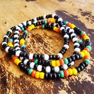 Jewelry - Rasta Beaded Bracelets- Set of 4